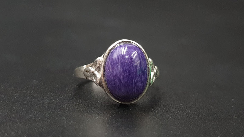 Charoite ring size 7 to 9