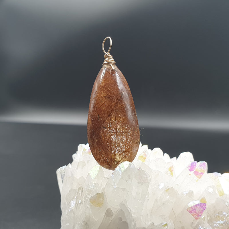 Rutilated quartz - copper