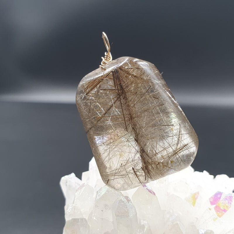 Silver rutilated quartz