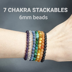 7 chakra 6mm stackable set
