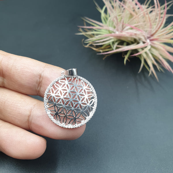 Flower Of Life 92.5 silver