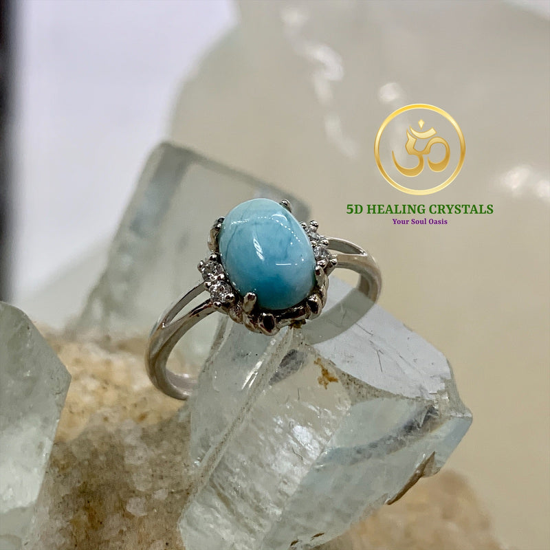 Larimar ring in 925 silver