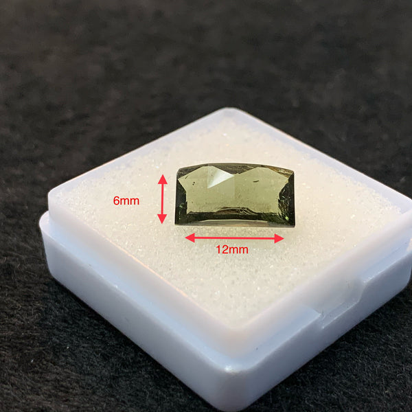 Faceted moldavite brus221