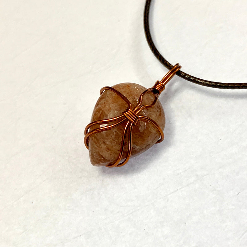Sunstone in copper Pendant