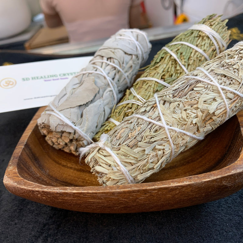 Cedar, white sage and blue sage