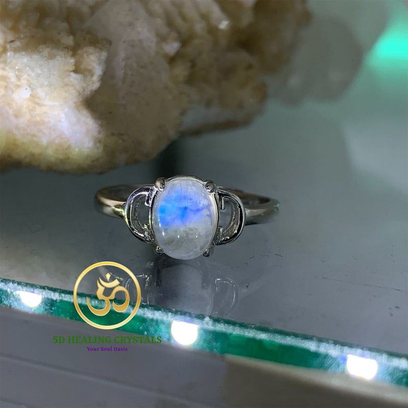 Moonstone ring 925 silver
