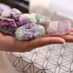 Raw Rainbow Fluorite Chunks