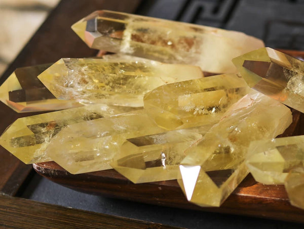 Natural unheated citrine wands Brazil