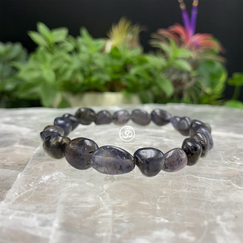 Iolite Pebble Type Bracelet