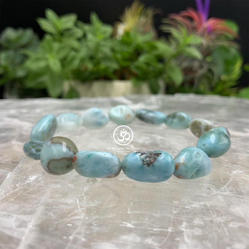Larimar Pebble Type Bracelet