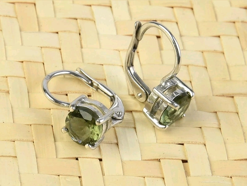 Moldavite earrings 072620