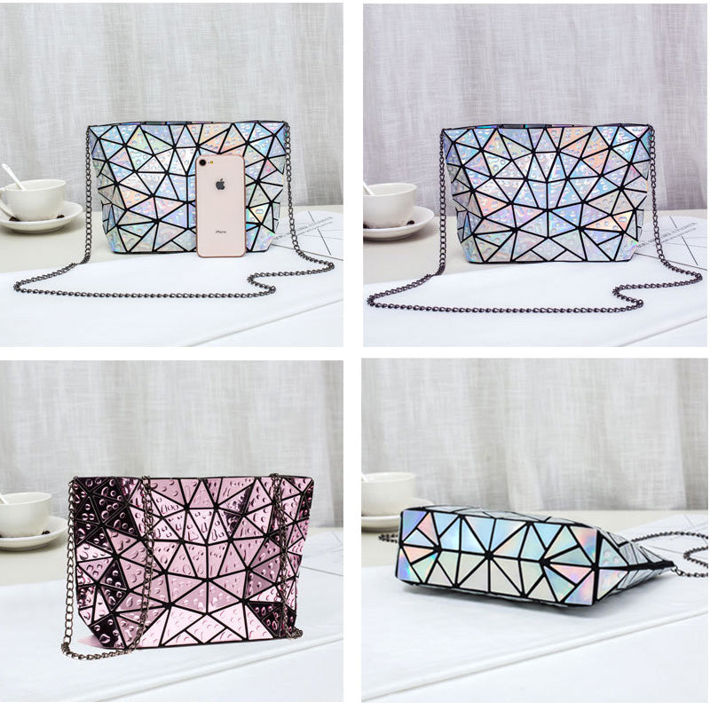 Gorgeous Fashion Chain Shoulder Holographic Laser Envelope Bag