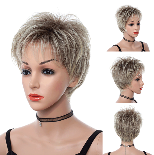 2019 New Lady Stylish Short Pixie Cut Hairstyle Wigs 2 Colors Find U