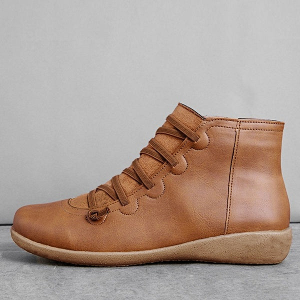 Women's Winter Leather Martin Boots Plus Size Free Shipping