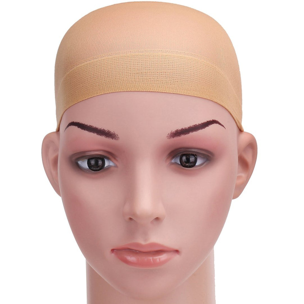 High Quality Unisex Stocking Wig Cap Snood Mesh Natural Nude Beige Wig Caps (2pcs)
