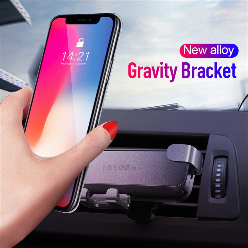Adjustable Invisible Aluminum Alloy Phone Bracket Car Accessories
