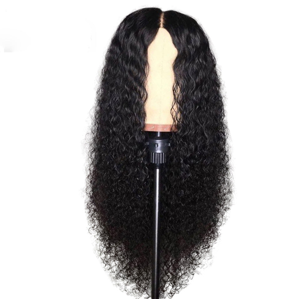 【SALE】 Human Hair Deep Wave Front Lace Wig