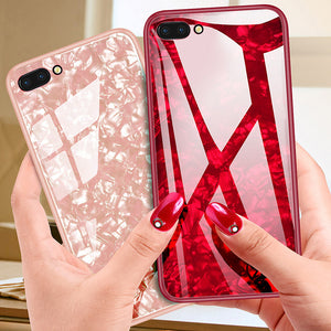 Painted Shell-Like Toughened Glass Mobile Phone Shell