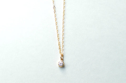 Anne Necklace (Tiny Diamond Pendant)