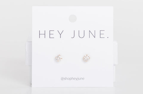 Solid Gold Diamond Studs