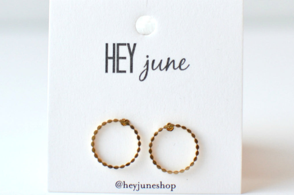 Braided Hoop Studs