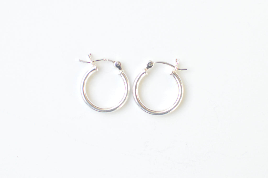 Small Silver Hoops (Delicate)
