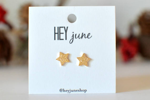 Christmas Sparkle Star Studs