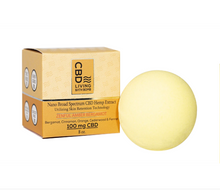 Load image into Gallery viewer, CBD Living Amber Bergamot Bath Bomb 100 mg