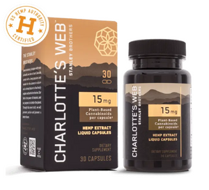 Charlotte's Web 15MG, 30ct. HEMP OIL LIQUID CAPSULES