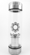 "Load image into Gallery viewer, ""One Love Tea"" Glass Bottle"