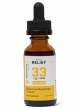 Load image into Gallery viewer, Serious Relief + Turmeric Tincture 33mg/dose (1oz)