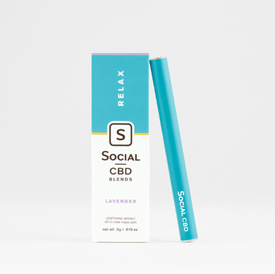 Social Lavender Relax Disposable CBD Vape Pen