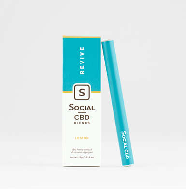 Social Lemon Revive Disposable CBD Vape Pen
