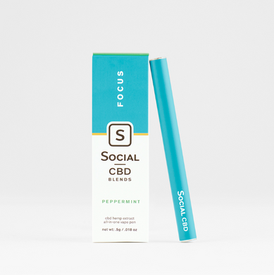 Social Peppermint Focus Disposable Vape Pen