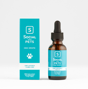 SOCIAL PETS UNFLAVORED CBD DROPS 750mg