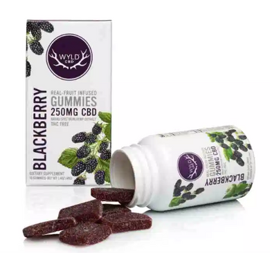 Wyld CBD Blackberry Gummies – 250MG