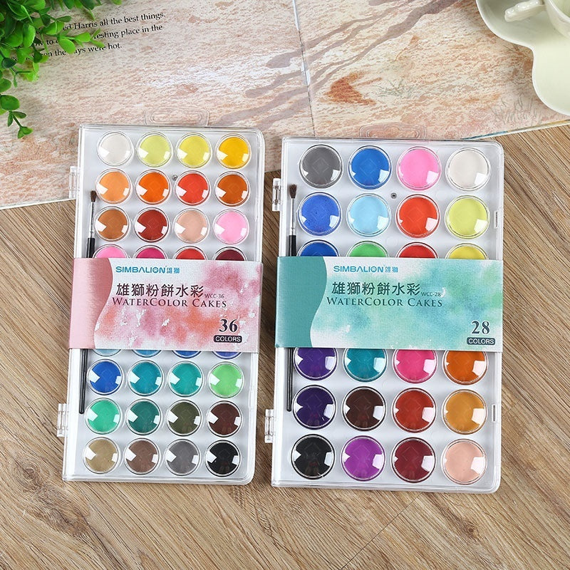 Solid Watercolor Cake Outdoor Paint Pigment Set 12 16 28 36 Colors