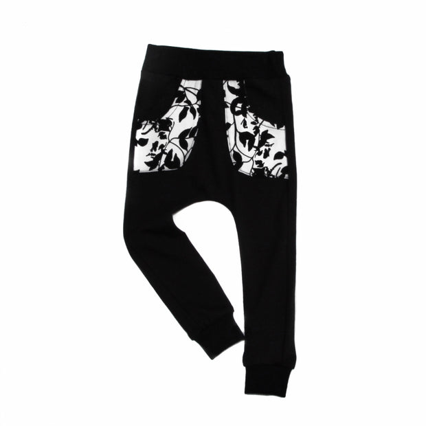 Black Joggers with Accent Pockets