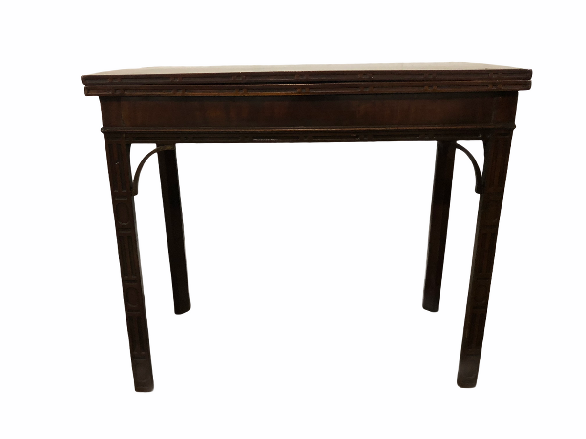 Chippendale Style Flip Top Game Table