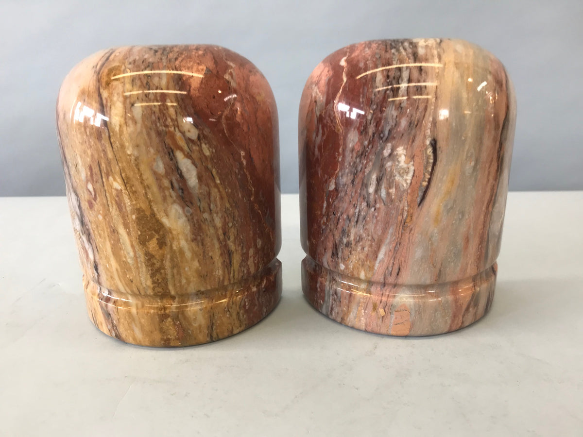 Pair Marble Bookends