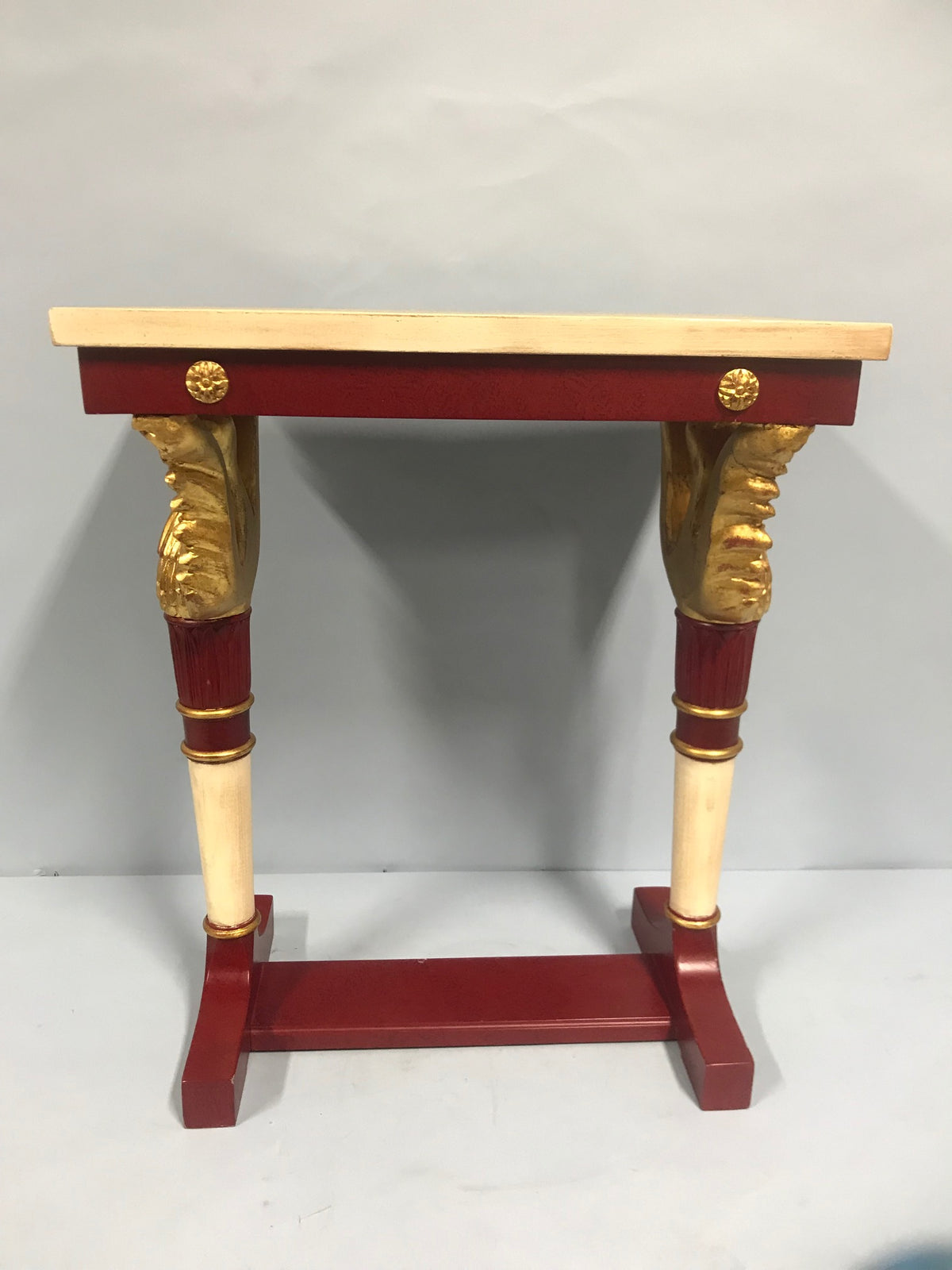 Petite Paint & Gilt Side Table