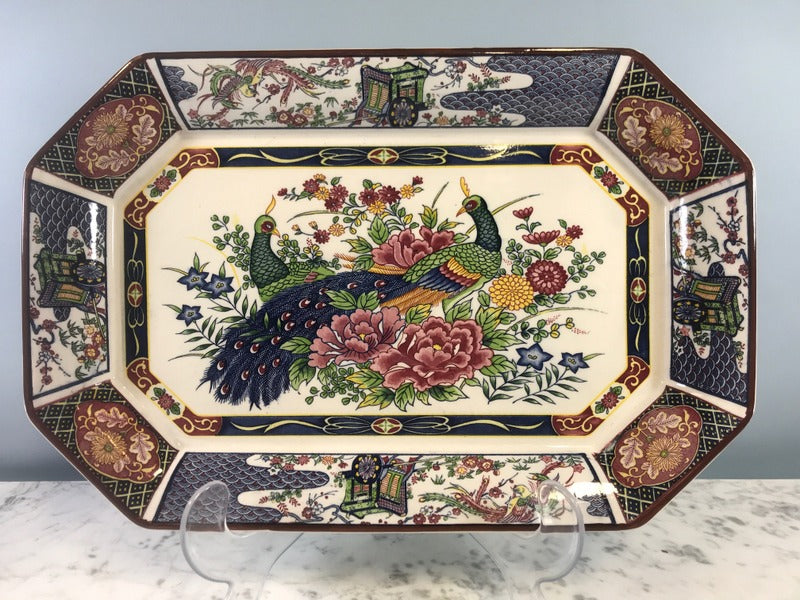 Large Platter with Peacocks