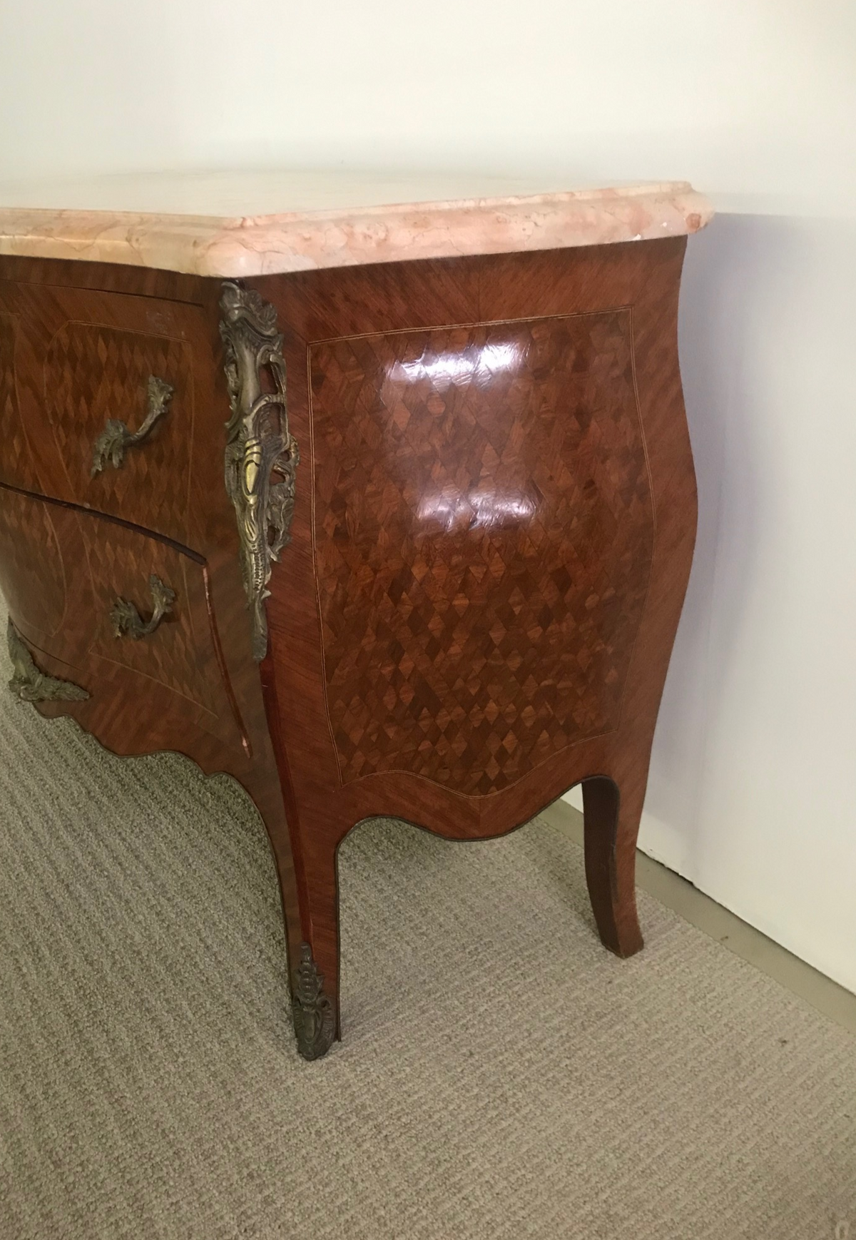 French Style Bombay Commode 20th Century Bronze Mounted