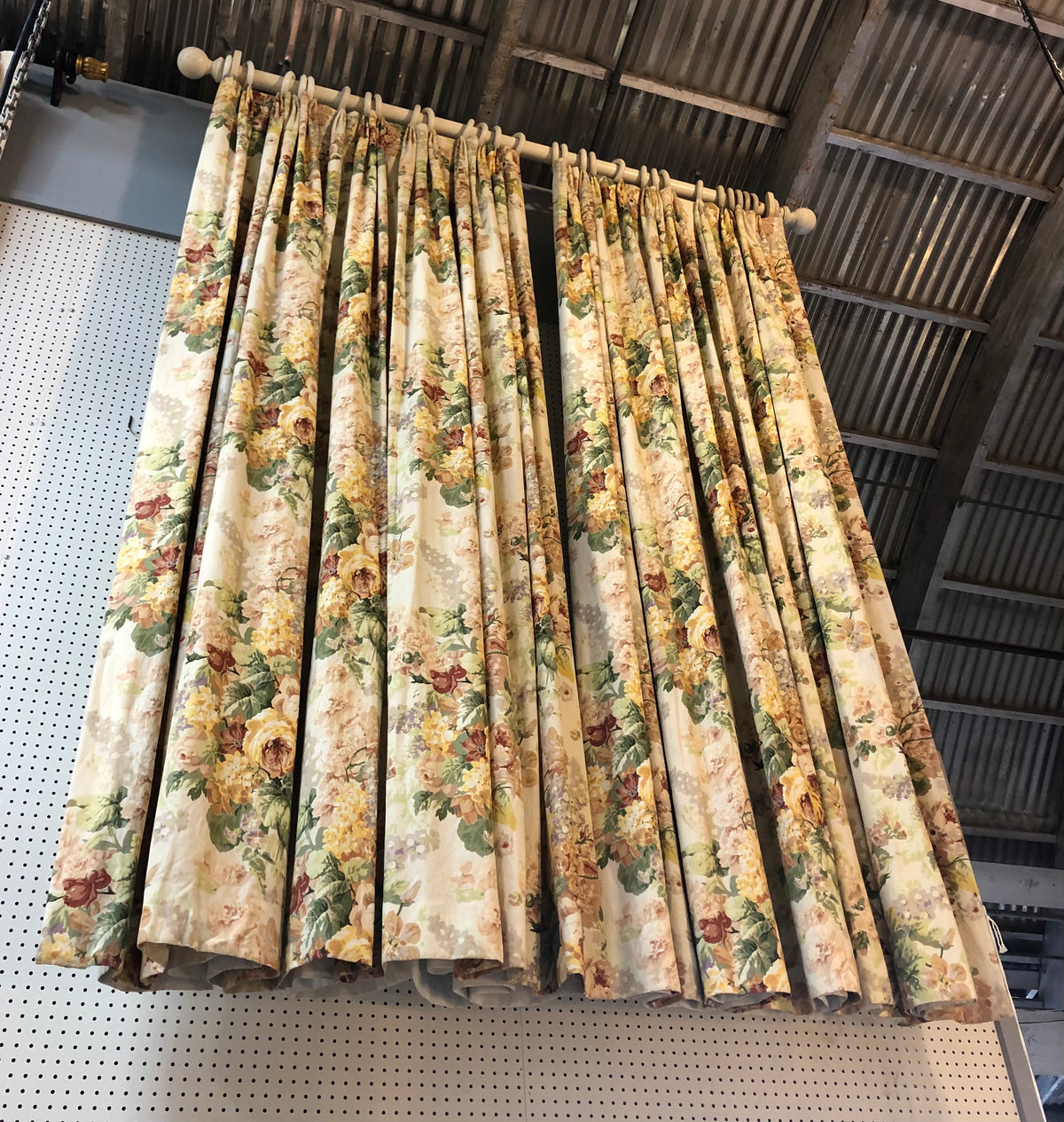 Pair of Vintage Chintz Drapes