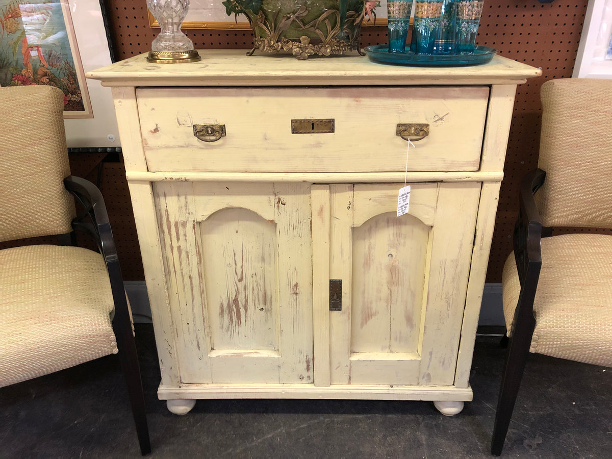 Painted Yellow Pine Cabinet