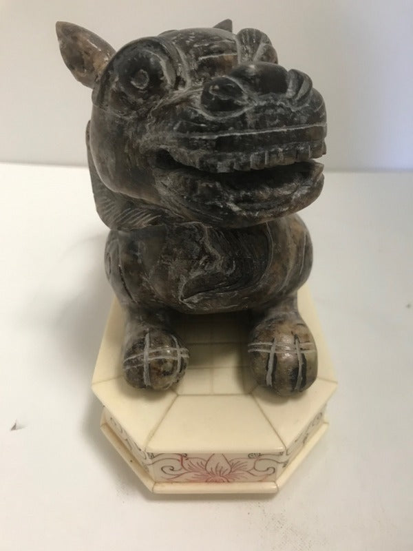 Soapstone Chinese Tiger on Base