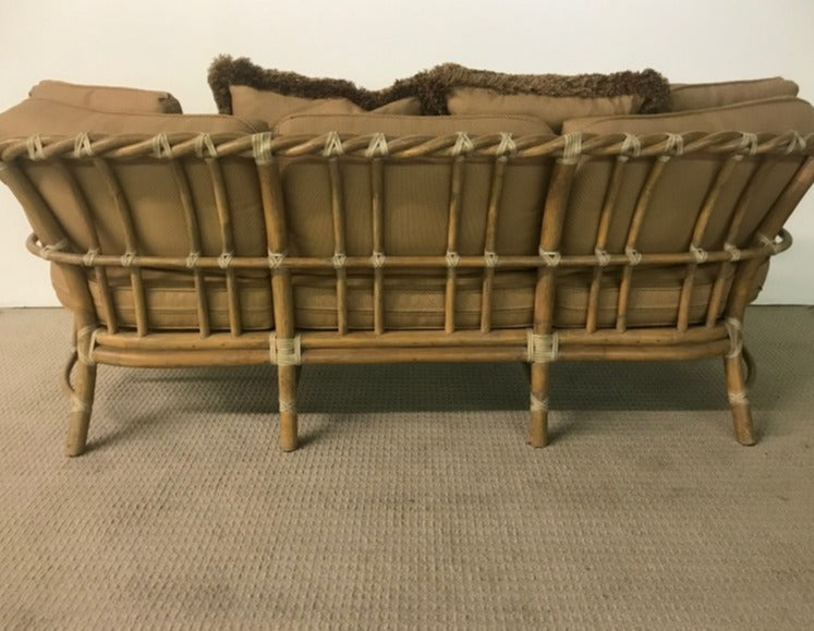 Bamboo Sofa With Cushions
