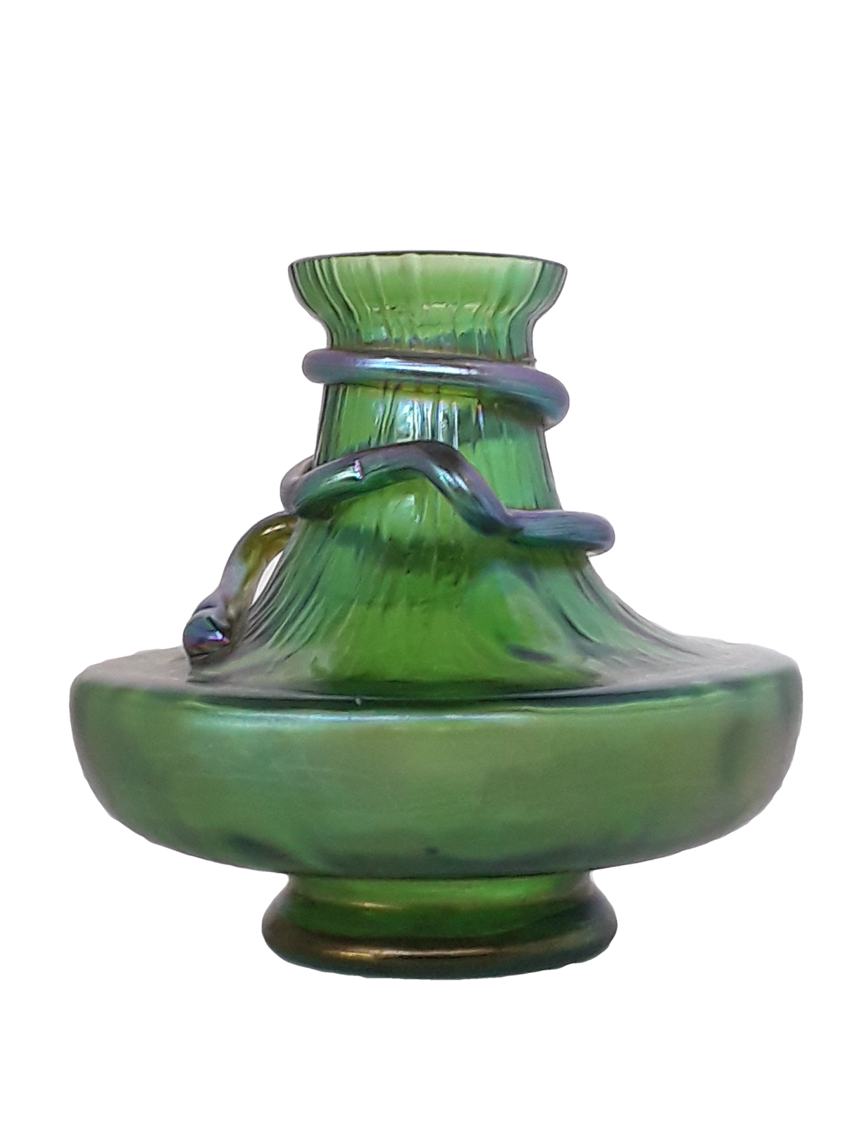 Loetz Art Glass Vase. Czech, Early 20th C.