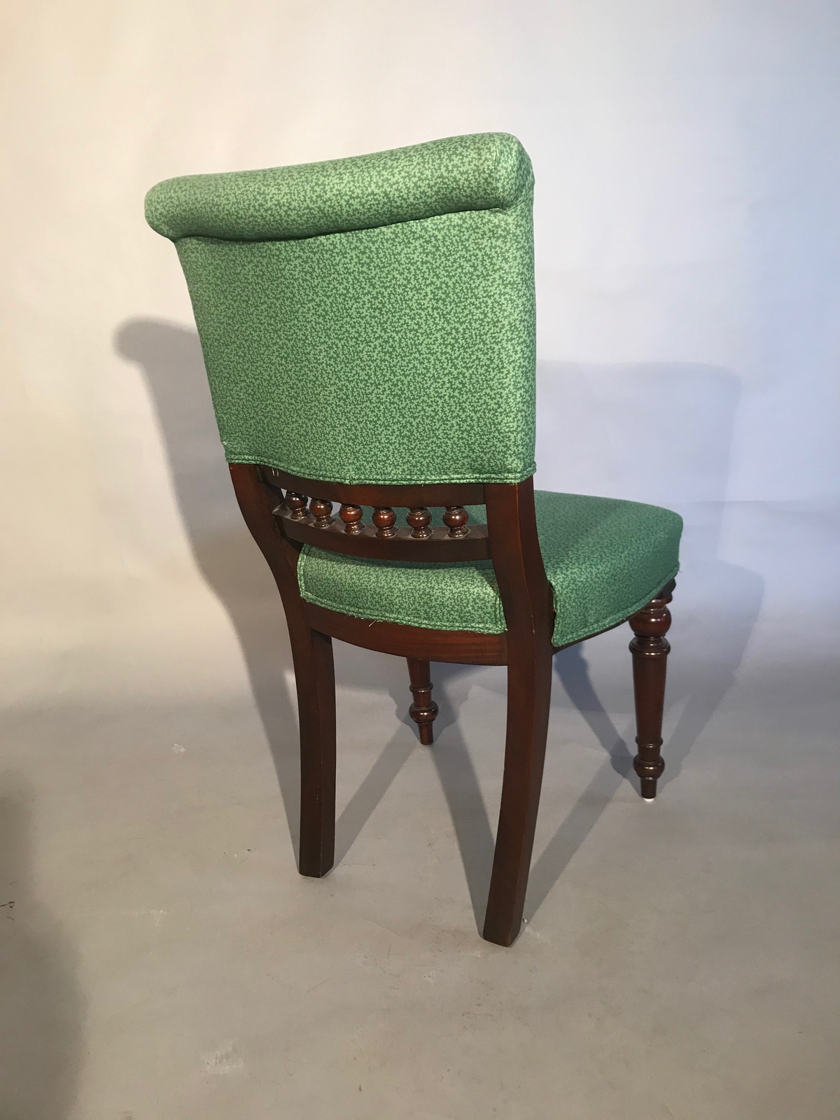 Side Chair With Green Fabric