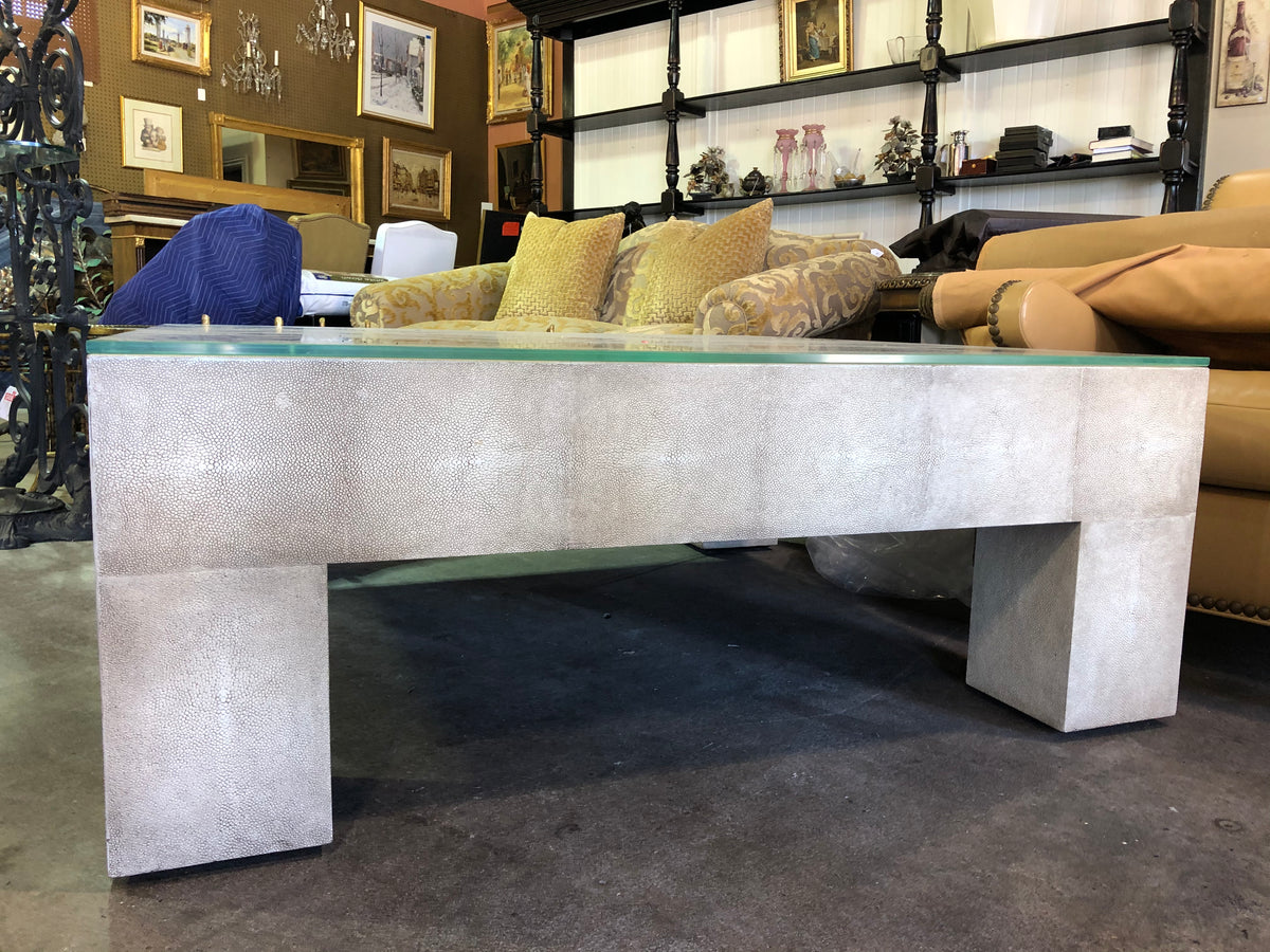 Faux Shagreen Coffee Table by Lillian August